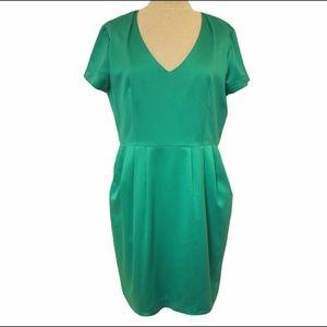 H&M Satin Dress w/Side Pockets NWT- Sz. 14